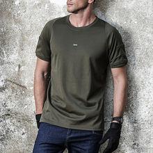 Мужская тактическая быстросохнущая футболка с круглым вырезом и коротким рукавом-BL (XXXL)(Китай)