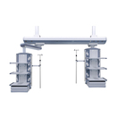 medical surgical bridge pendant icu ceiling pendant system