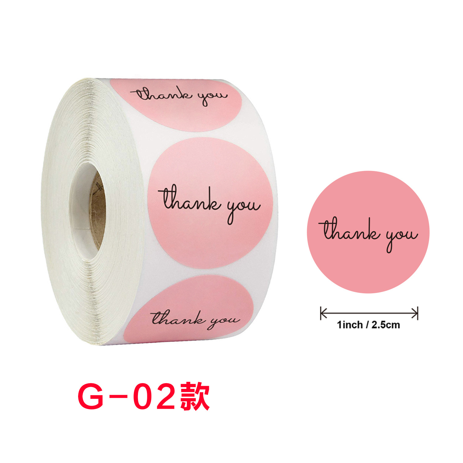 Customize 500 Pcs/Roll thank you cards custom with logo Label Sticker Roll Labels Packaging Stickers Label Machine