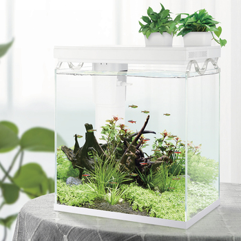Wholesale New arrival SOBO ultra clear aquarium super white fish tank aquascaping tank