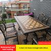 16-6 барный стул 1 AL рамка прямоугольный стол 185 см