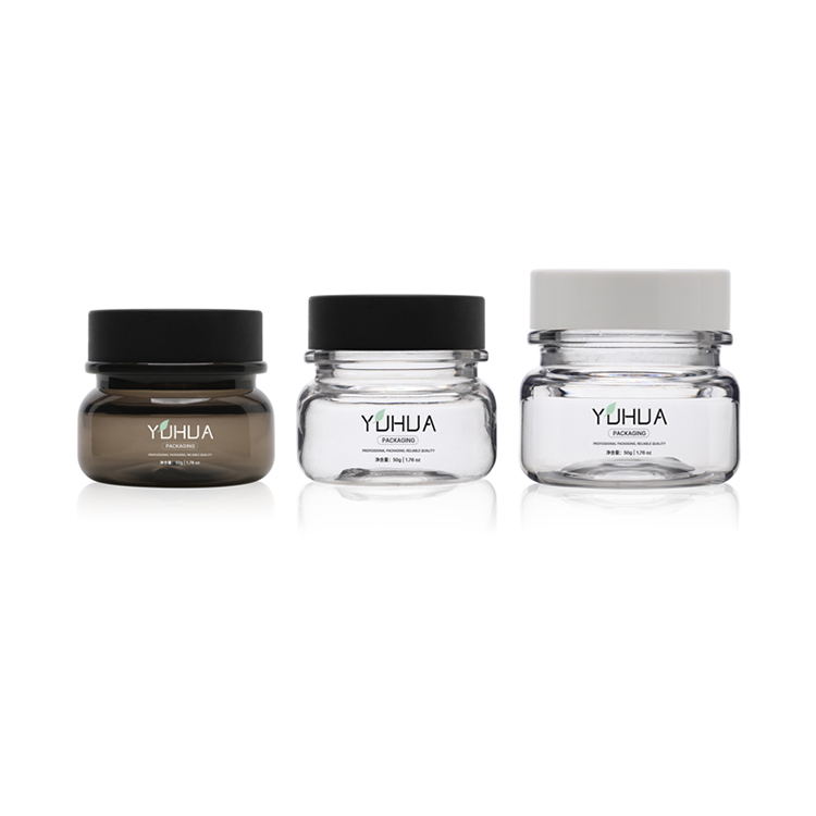 Eco Friendly Cosmetics Packaging Skin Care Plastic Jars 50g Face Cream Jar Empty Containers For Lotions And Creams