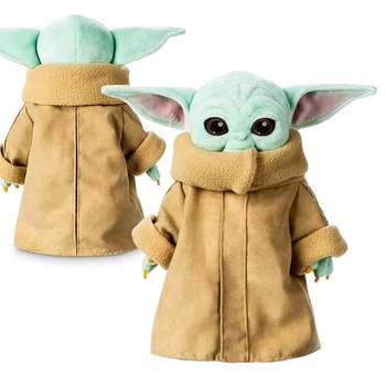 25CM/9.8 INCH Tall Collection Soft Stuffed Doll Mandaloria Baby Yoda Plush Toy Master Yoda Stuffed Doll Toys Children Gift