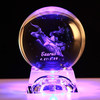 3d laser engraved crystal constellation ball