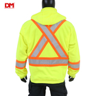 Vest High Visibility Ansi Reflective Safety Clothing Custom Logo With Pockets And Zipper Wholesale Flashing Safety Work Vest