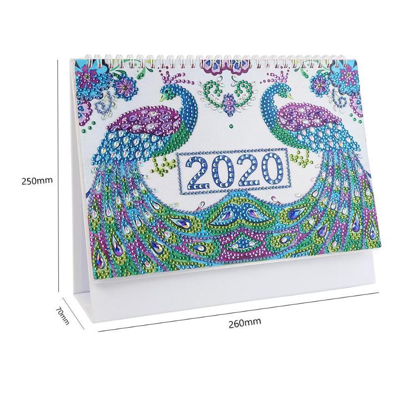 DIY дрель календарь 2020 Рождественская мышь специальная форма алмазная живопись расписание планировщик стол орнамент украшение для дома спа...(Китай)