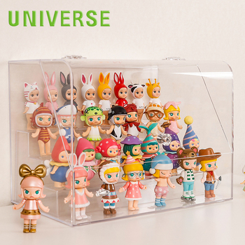 UNIVERSE wholesale customized clear case acrylic display box for toy package box