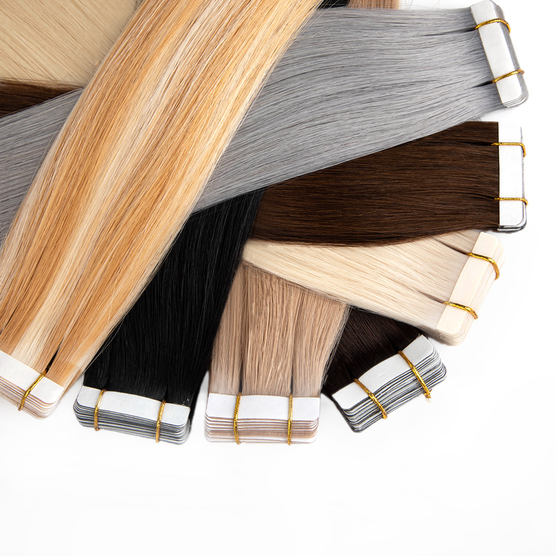 50% OFF Russian Cuticle Aligned Double Drawn Human Hair Tape On Hair Extension