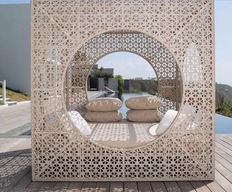 Плетеные стулья-шезлонги ручной работы для сада на открытом воздухе