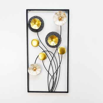 Contemporary sculpted metal home wall decor flower art living room iron wall decoration