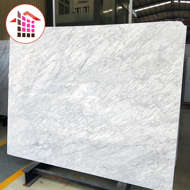 HOT best quality polished cheap price per square meter 24x24 custom cut size import italian carrara marble tiles for floor