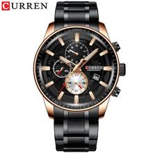 Часы CURREN Мужские, модные, кварцевые, водонепроницаемые, с секундомером, деловые(Китай)