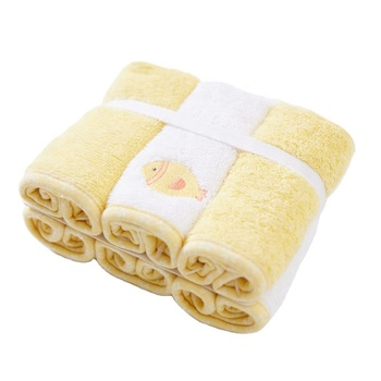 6 Pack Natural Baby Soft Washcloth Towels Suitable For Infant Registry Gift Baby Bath Towel