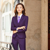 Women purple suits(blazer+Vests+pants)