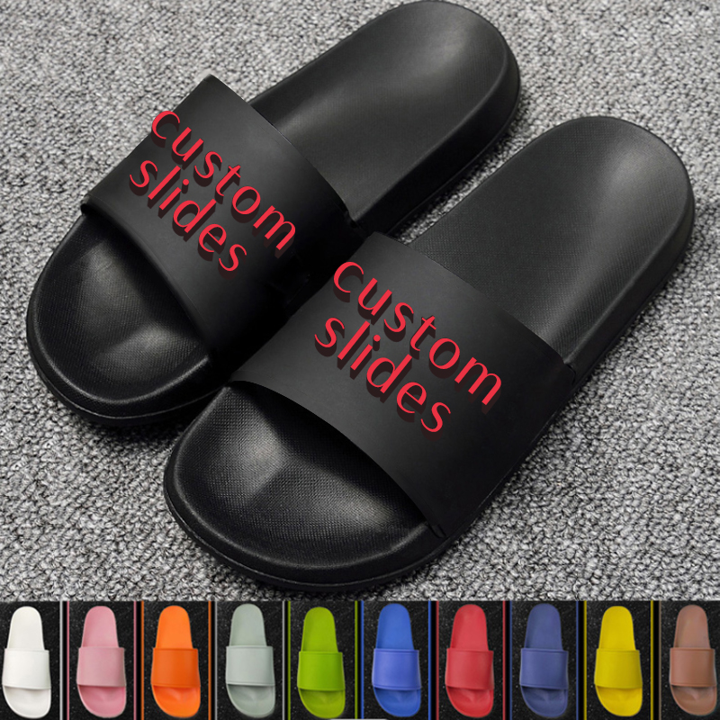 Factory Price Plus Size Customize Sandals Slippers Personalized New Design Custom Logo House Slippers Slides Footwear Original