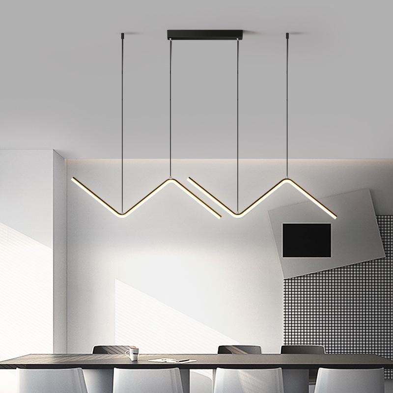Минималистичная светодиодная люстра в скандинавском стиле, индивидуальная Геометрическая лампа с линиями для гостиной, столовой, спальни, кабинета, бара, художественная лампа
