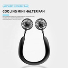 Cooling Fan Plastic Plastic ODM Usb Wearable Lazy Rechargeable Hanging Cooling Desktop Heat Sink Block 2021 Personal Neck Fan Box Plastic 3 Speeds 1000 0.35