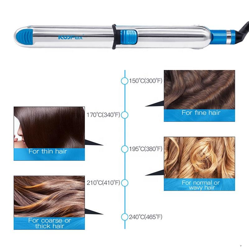 2021горячая распродажа, профессиональные щипцы для завивки волос с индивидуальной этикеткой, выпрямитель для волос с паровым титановым покрытием