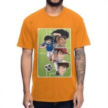 Уникальный дизайн, графическая футболка Captain Tsubasa, 100% хлопок, аниме, на заказ, футболка с круглым вырезом, рубашка оверсайз(Китай)