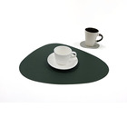Table Dish Hot Selling Sustainable Recycled Home Leather Placemats Decorative Table Dish Mat Nonslip Placemats