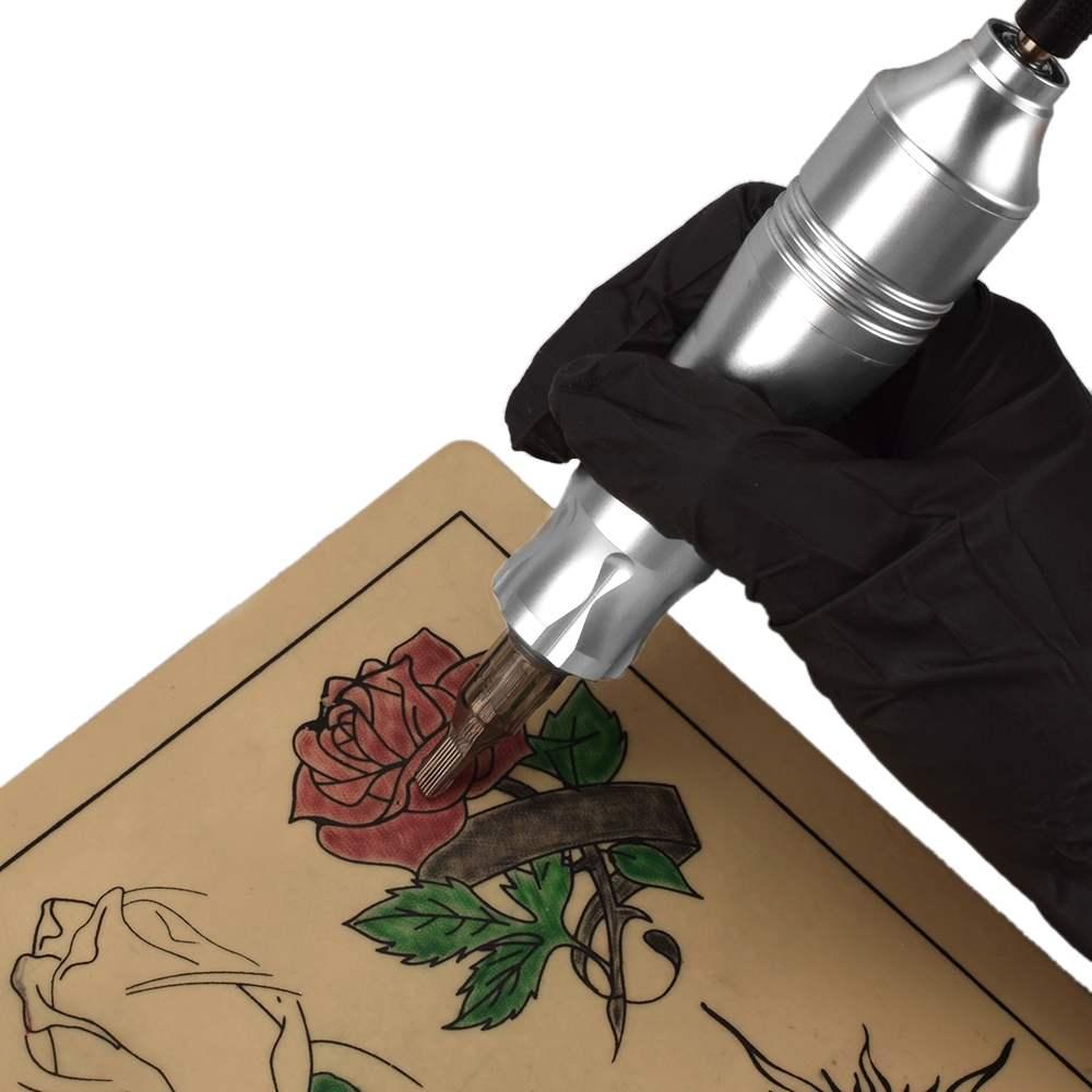 4 вида цветов Профессиональная ручка для нанесения татуировок поворотный картридж пулемет комплект DC кабель для боди-арта для татуажа аксессуары