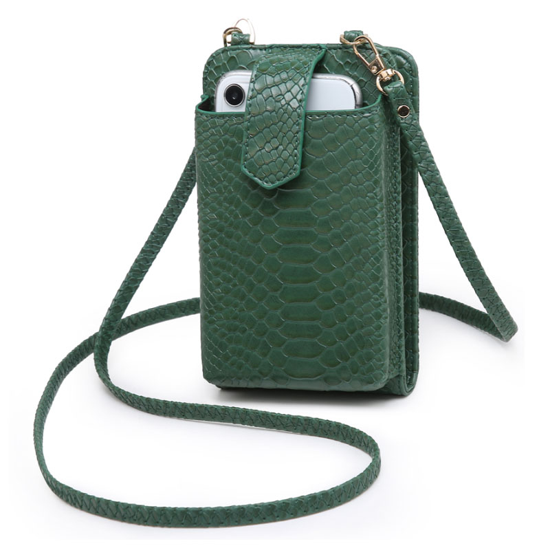 2021 New Ins Hot Phone Cross Body Bag Python Pattern 2 Leather Strap Purse Clutch Bags Designer Phone Bag Wallet