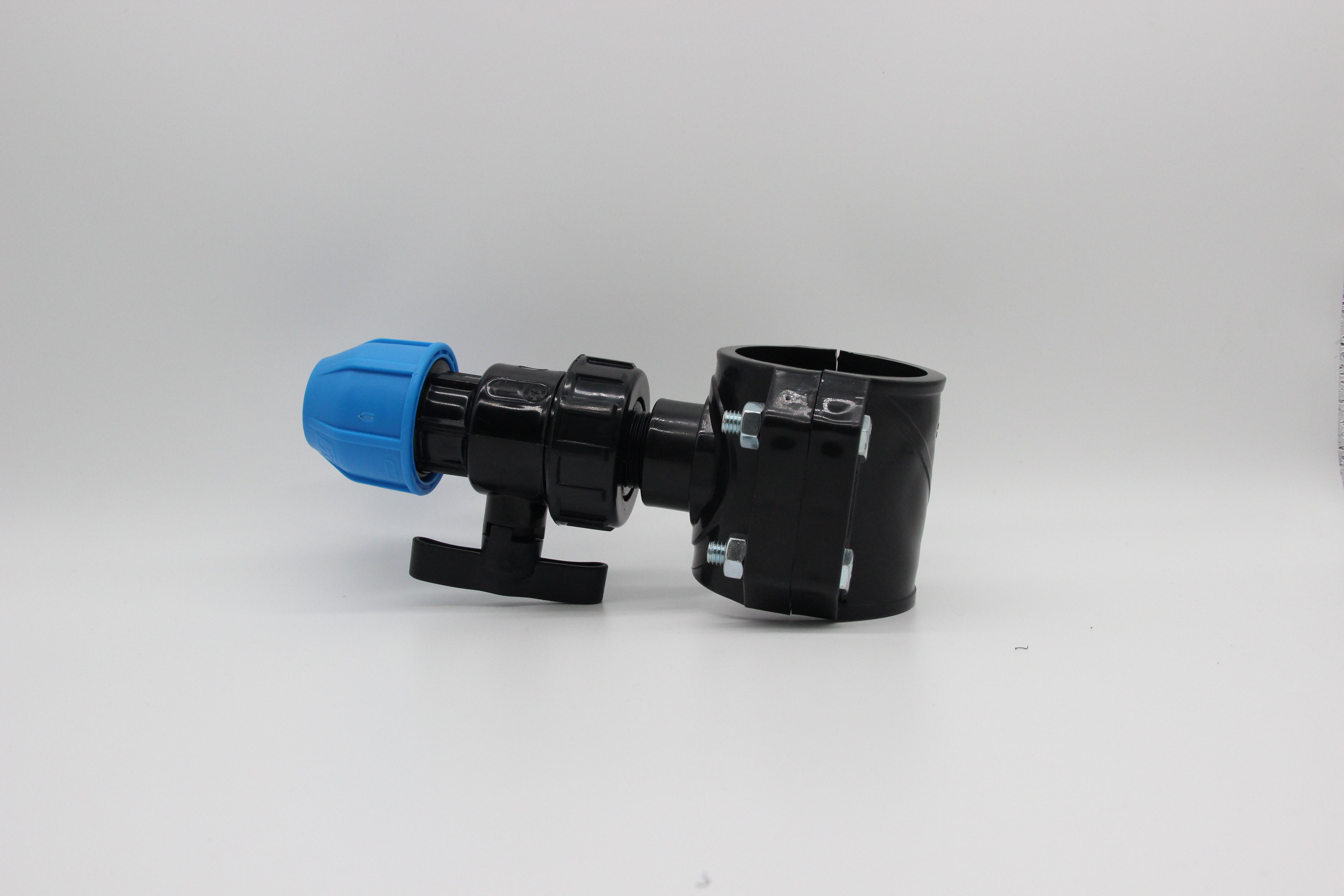 Горячая продажа pe резьбовое седло hdpe фитинги для труб зажим седло HDPE Стыковая арматура