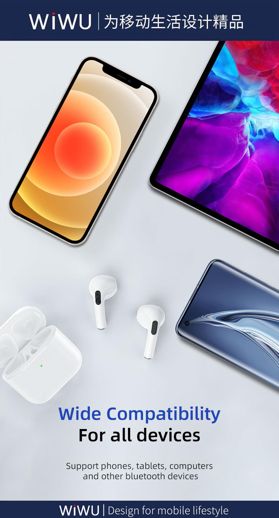 WiWU TWS Wireless Earbuds Airbuds Lite Earphone