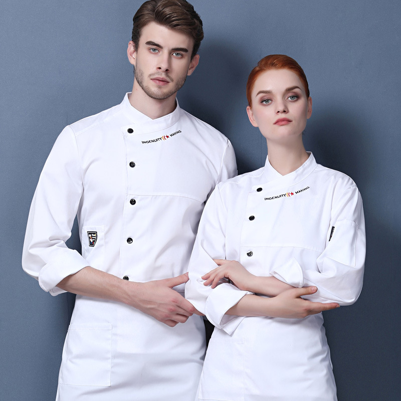 High Quality Restaurant Hotel chef shirt chef clothing Checker chef uniforms with embroidered logo