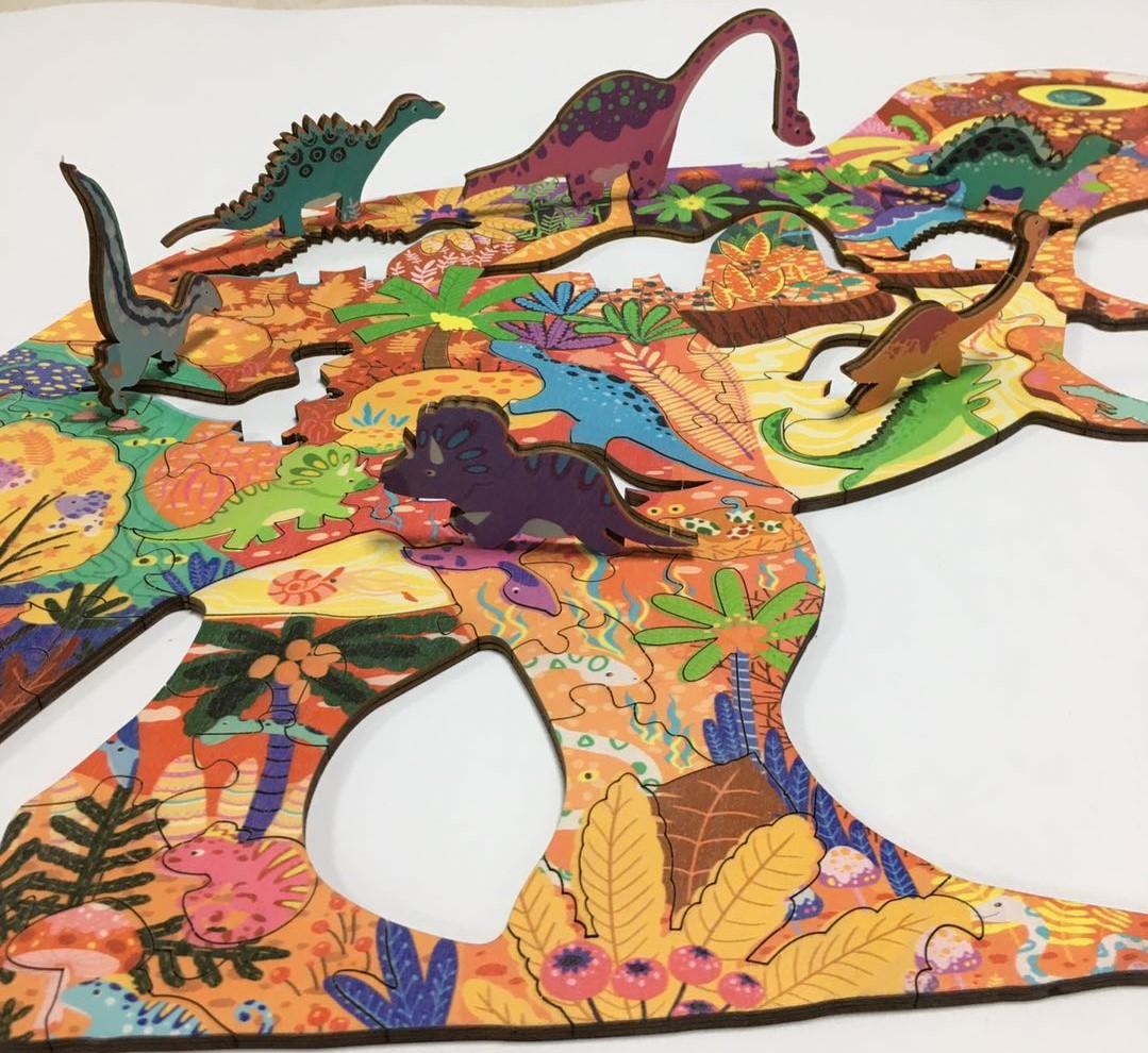 Wholesale factory customized wooden puzzle creative children's3D puzzle