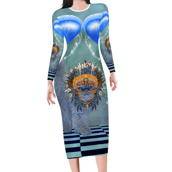 New Arrivals Custom Dress All print Wrap Party Stretchy Fitted Women's Sexy Club Night Out Bodycon office lady Skintight