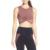 Women Workout Crop Tops Front Twist Crop Top Sweatshirt Athletic Gym Sports Bra Running Tops