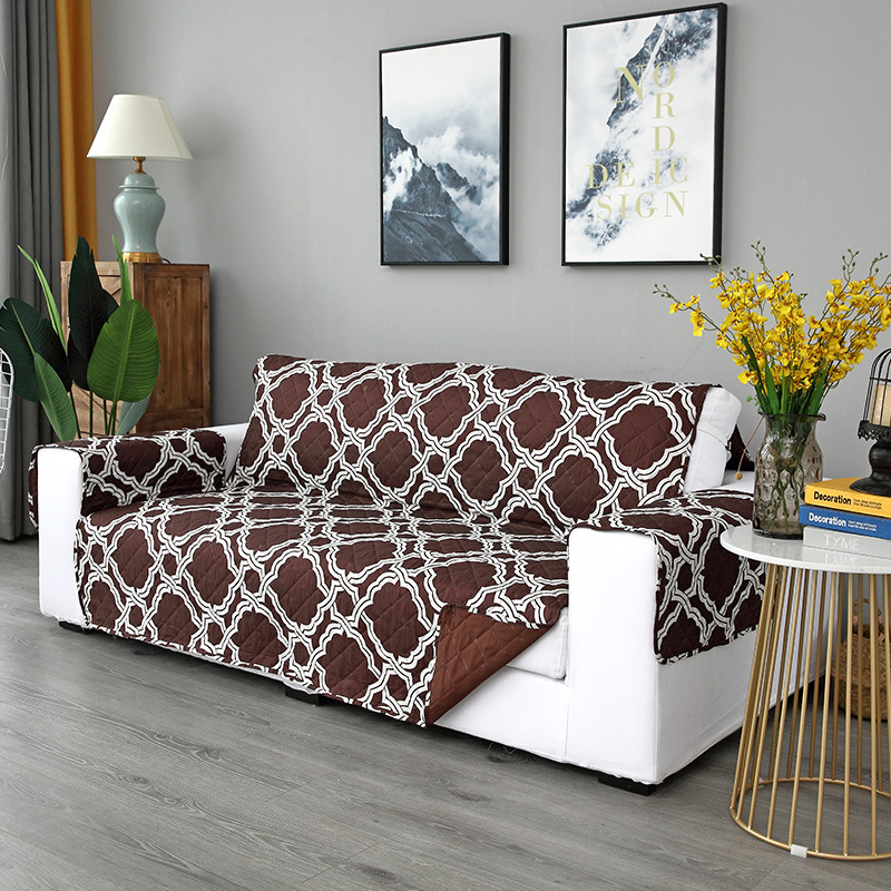 Amazon hot style can customize export two-sided printing pet sofa cushion integrated sofa cushion protection cover 167*196cm