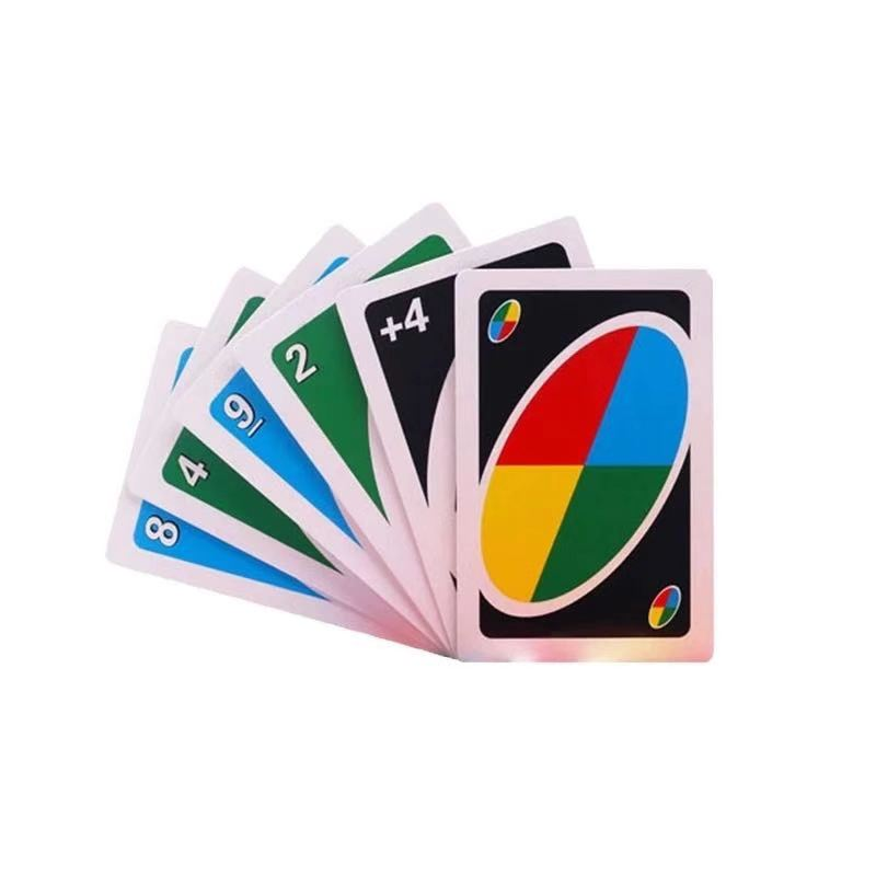 Hot sale family game Factory Price poker Table Games Plastic PVC unoes playing cards and dos playing cards