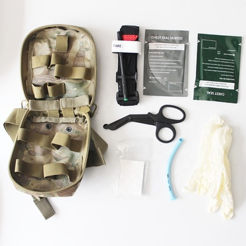 Military Camping and Outdoor rescue Emergency Individual Medical First Aid Kit