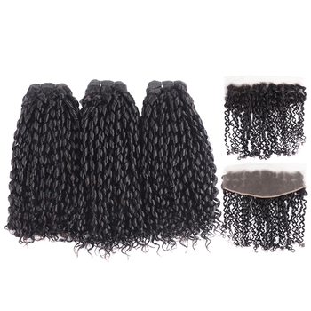 funmi in hair weaves 10A grade real brazilian human hair extensions 240G 3 bundles Pixie curly human hair selling well