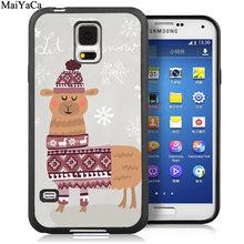 MaiYaCa забавные нет проблем ламы рисунок Альпака телефонные чехлы для samsung Galaxy S5 S6 S7 край S8 S9 S10 Plus Note 9 8 чехол в виде ракушки(Китай)
