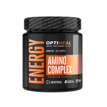 Supplement sport nutrition powder drink AMINO COMPLEX ENERGY, 8 essential aminoacids, the best pre workout formula, 210 g