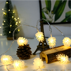 3d Effect 3d Night Light Factory Customized Outer Packaging Design Smart 3D Visual Effect Lamp Transparent Pine Cone Light String Night Light