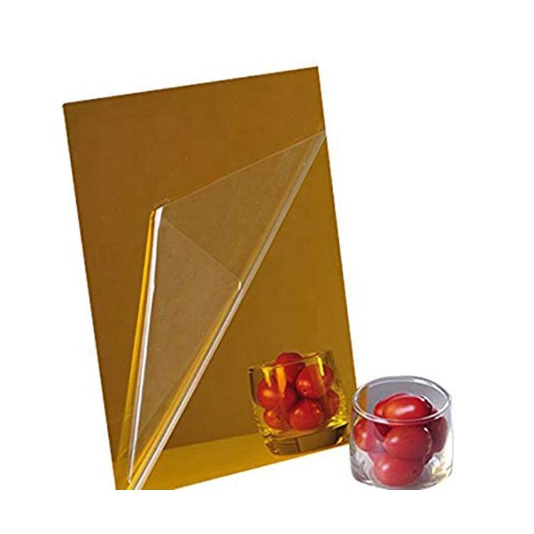 Золотистые и Серебристые Акриловые плексиглазные зеркальные листы для украшения дома