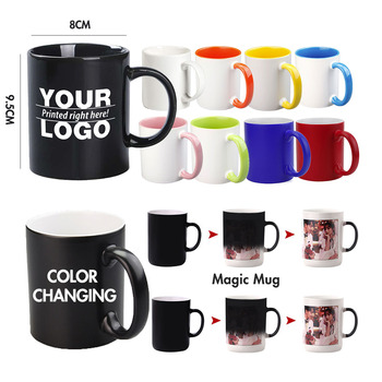 Wholesale Custom Blank Porcelain Mugs Cups Plain White Black Ceramic Sublimation Coffee Cups Mugs With Logo