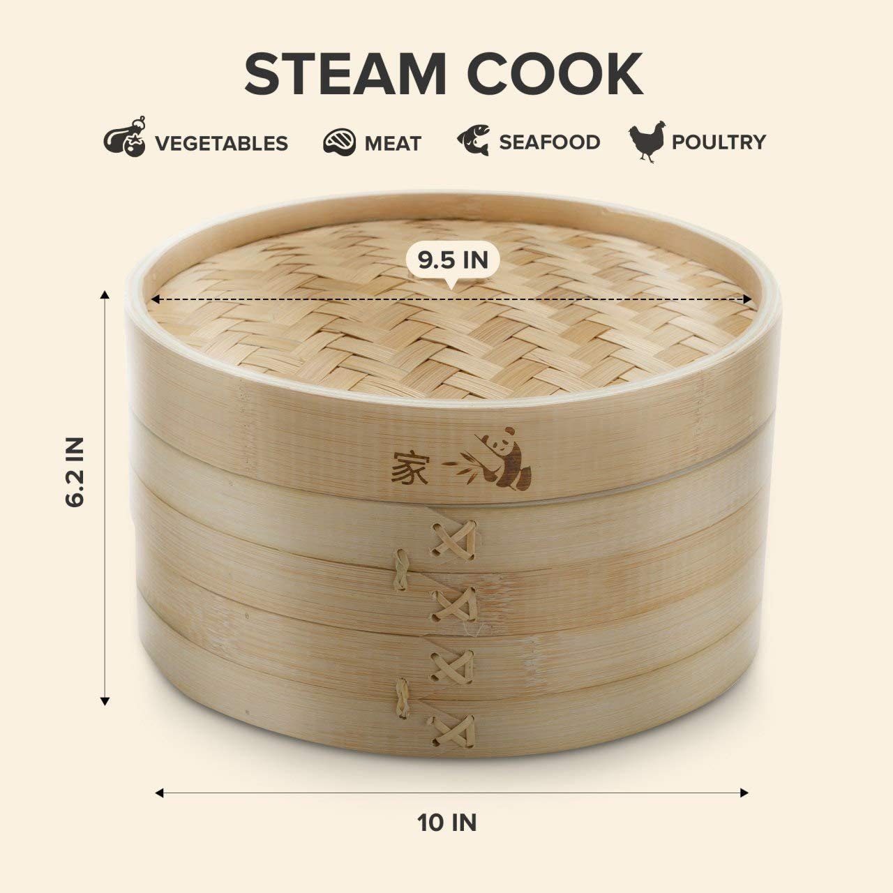 Оптовая продажа, лидер продаж, Заводская Классическая Пароварка из бамбука традиционного дизайна