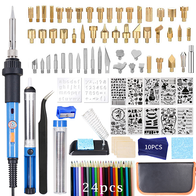 Soldering Iron Adjustable Temperature  Professional Pyrography Pen Embossing Carving Wood Burning Tools