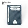 Carbon Fiber Leather  Blue