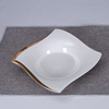 White&Gold soup plate