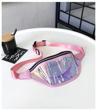 Aliwood водонепроницаемые прозрачные женские нагрудные сумки пляжная сумка поясная сумка голографическая Лазерная поясная сумка для женщин с...(Китай)