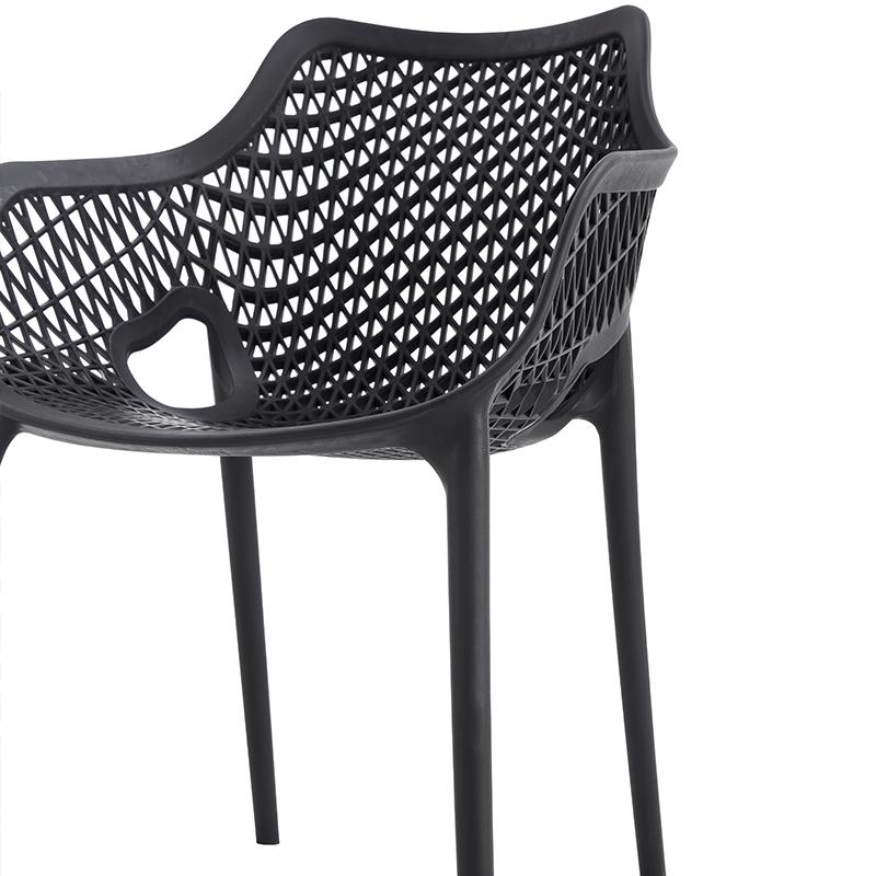 Удобный пластиковый шезлонг с изогнутой спинкой, креативный дизайн, шезлонг, уличные обеденные штабелируемые стулья для улицы