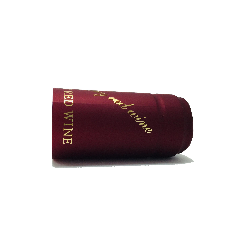 Термоусадочная капсула из ПВХ цвета шампанского с логотипом на заказ