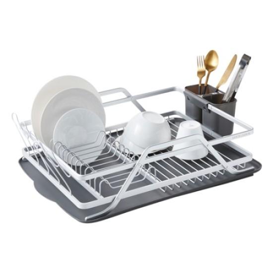 Cutlery Dish Drainer Holder Utensils Wire Drying Rack Kitchen Storage Organizer