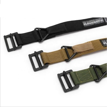 High Strength Black Durable Daily Nylon Khaki Webbing Heavy Duty Men Outdoor Adjustable Webbing Military Tactical Army Belt
